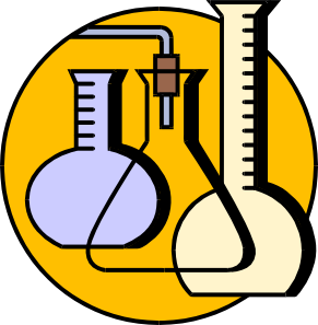 Laboratory apparatus clipart.