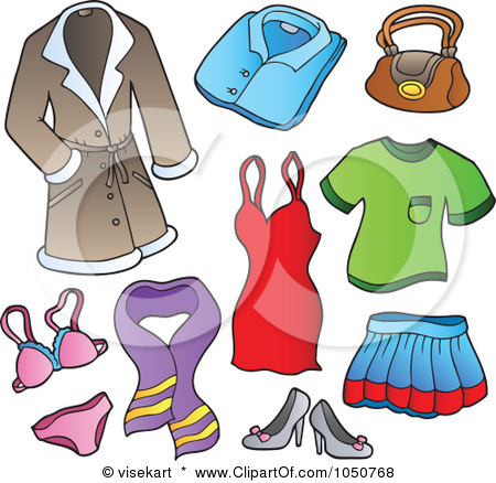Clothing pictures clip art.