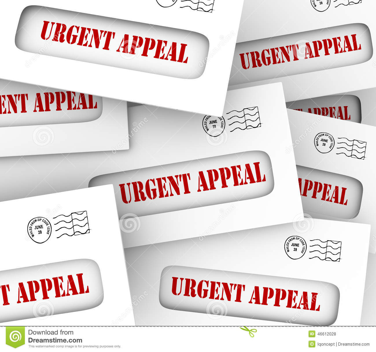 Urgent Appeal Envelopes Mailed Message Important Plea Asking Mon.