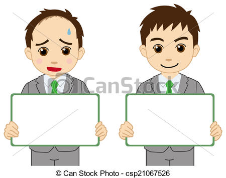 Clip Art of Bald businessman who appeals csp21067526.