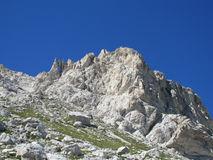 Hanging Stone Rocky Peak Of Apennine Mountain Range Stock Photo.