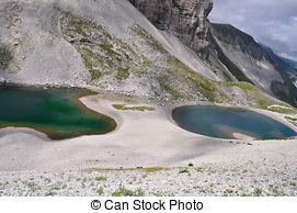 Stock Photography of Pilato lake, Italian Apennines landscape.