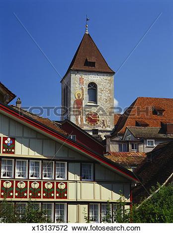 Stock Photo of Mauritius Church, Appenzell, Switzerland x13137572.