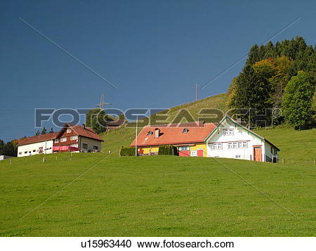 Stock Photography of Switzerland, Europe, Appenzell, typical.