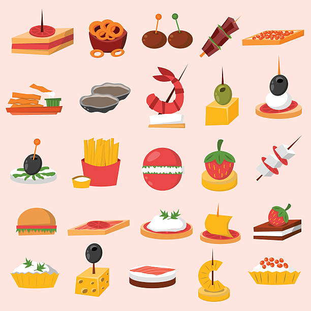 Best Appetizer Illustrations, Royalty.