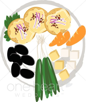 Appetizer Tray Clipart.