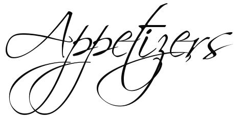 Appetizer clipart black and white.