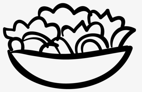 Free Salad Black And White Clip Art with No Background.