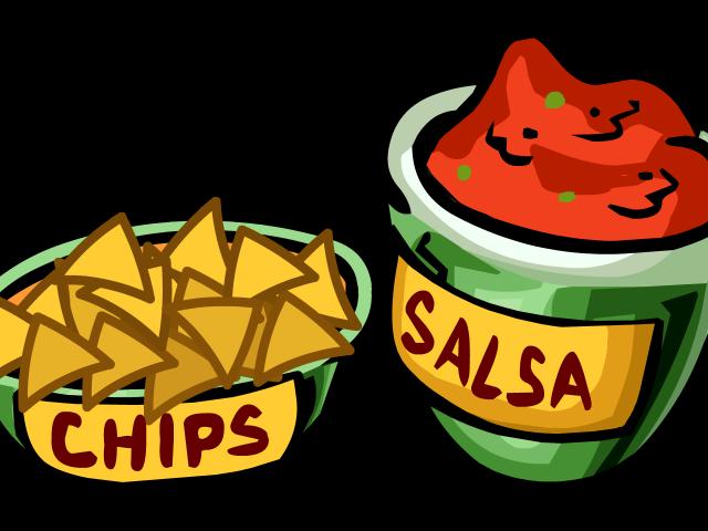 Appetizers clipart chip salsa, Appetizers chip salsa.