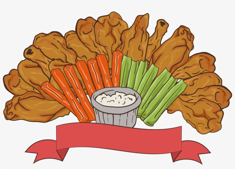 Appetizers Clipart Fried Chicken Wing.