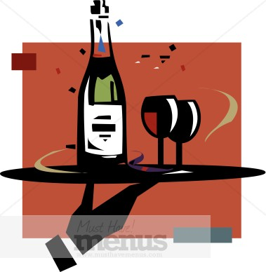 Free Wine Clipart Appetizers.