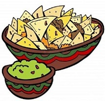 Dips and Appetizers Clip Art.
