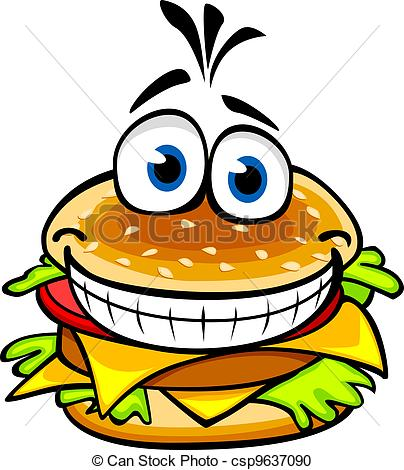 Vector Clipart of Appetizing hamburger.