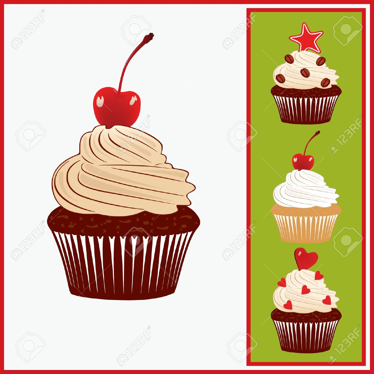 Set Of Appetizing Cakes. Royalty Free Cliparts, Vectors, And Stock.