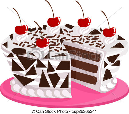 Drawing of Black Forest Cake.