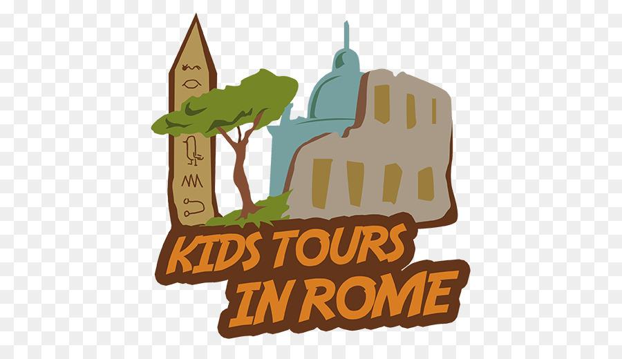 Kids Tours in Rome Logo Illustration Clip art Brand.