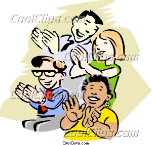 Audience clapping clipart.