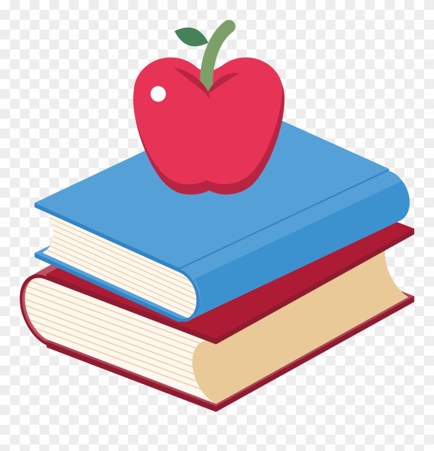 Book Apple Clip Art.