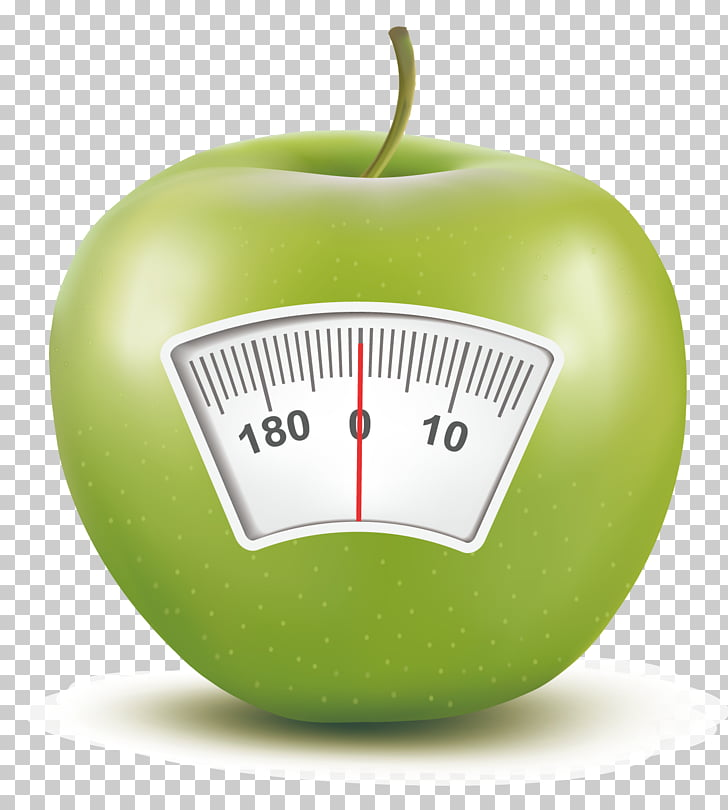 Weighing scale Apple Scale ruler, Apple creative PNG clipart.
