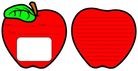 Apple Cut Out Pattern images.