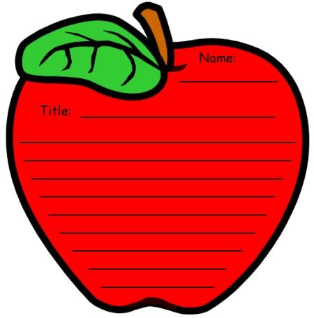 Unique Apple Writing Templates: Fun Back to School Printable.