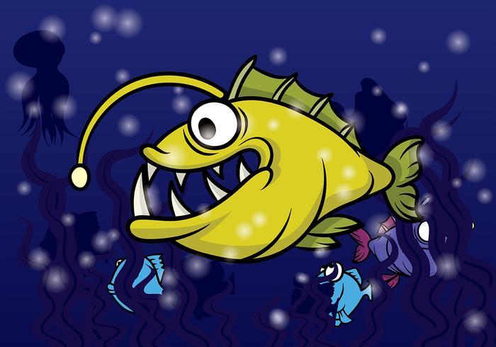Angler Fish Vector.