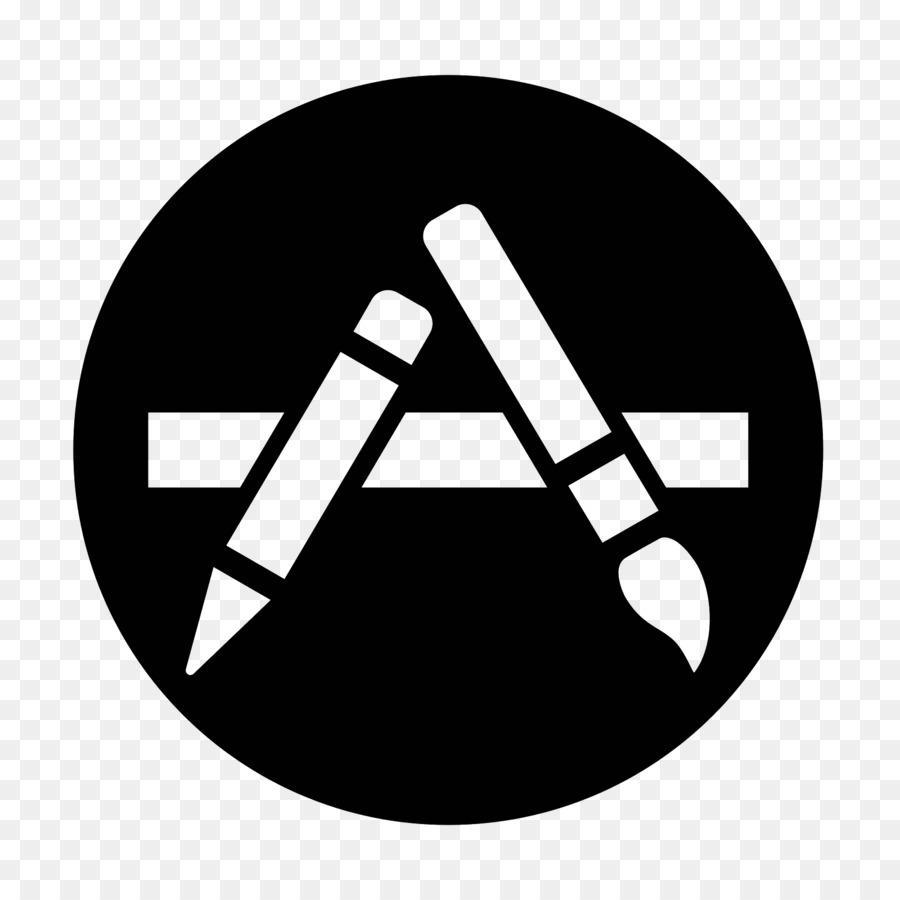 Black Apple Logo.