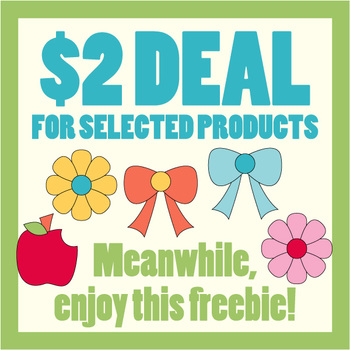 Free Back To School Clipart (Apple, flowers, ribbons clip art).