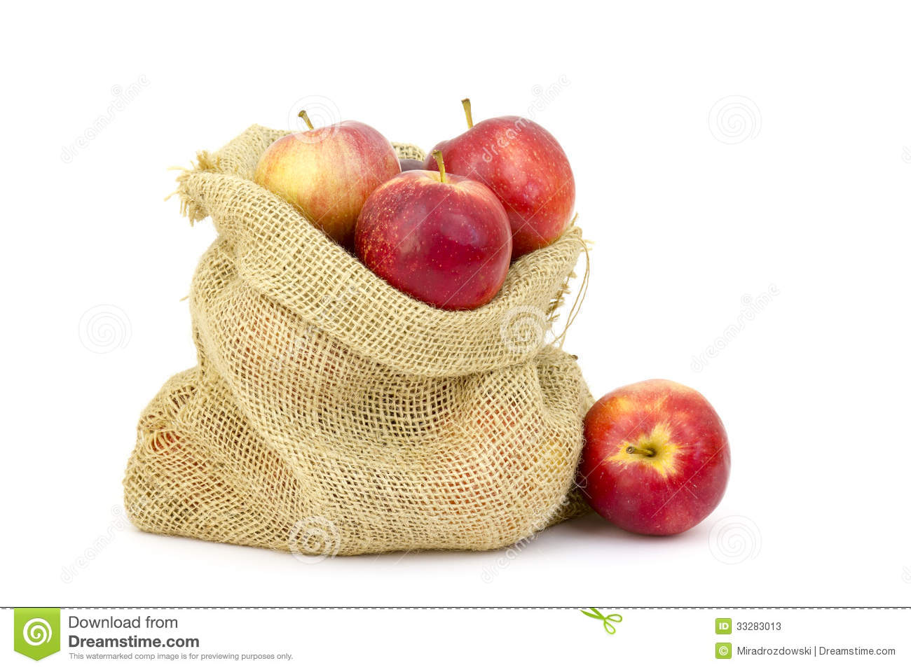 Apples Sack Stock Photos, Images, & Pictures.