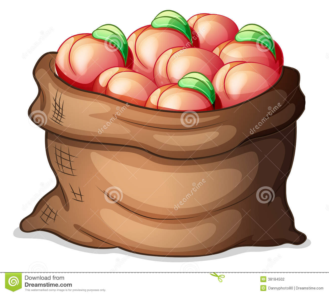A Sack Of Apples Stock Photography.
