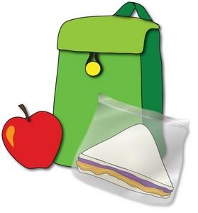 Brown Bag Sandwich Clipart.