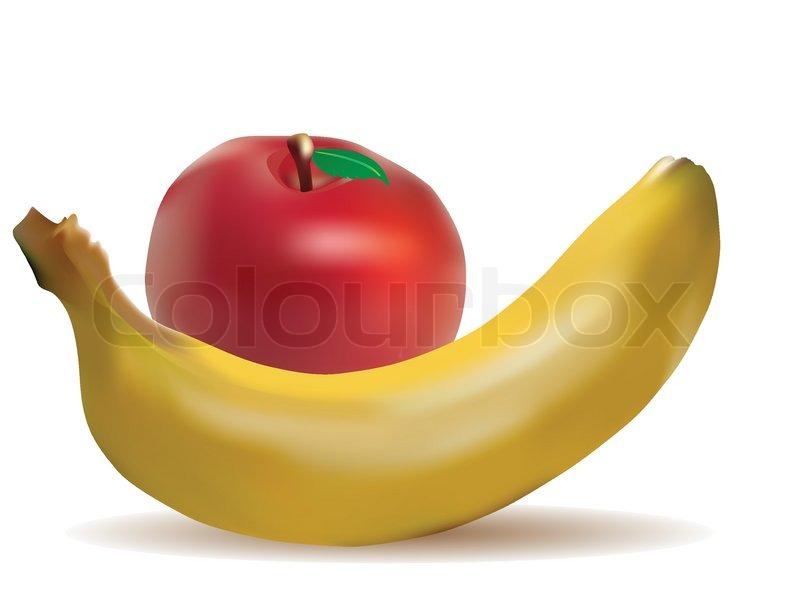Apple And Banana Clipart.