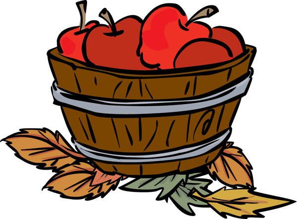 Apple Basket Clipart.