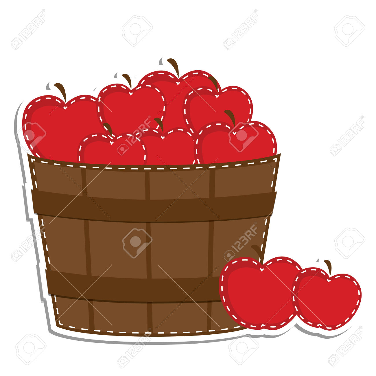 Apple basket clipart no background.