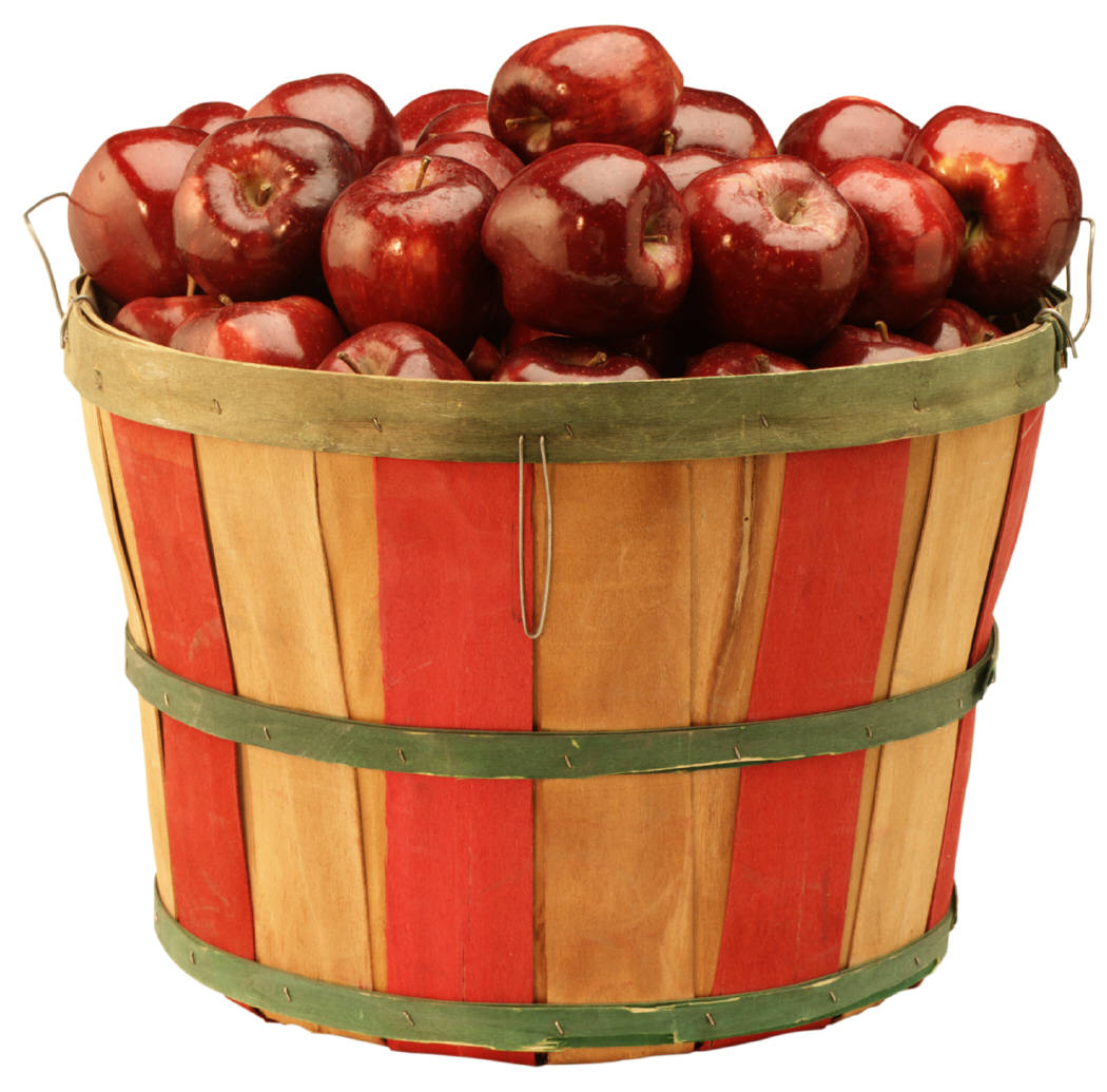 Apple Bushel Basket Clipart.