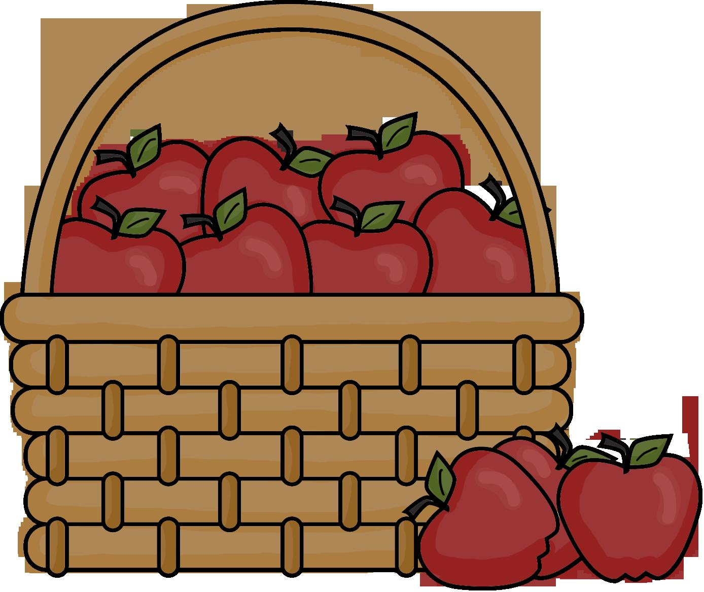 Apple Basket Clipart.