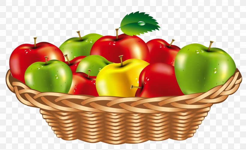 Fruit Gift Basket Clip Art, PNG, 6160x3776px, Fruit, Apple.