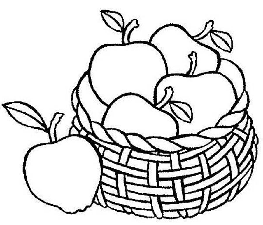 35 Apple Coloring Pages.