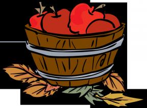 Apple Basket Clipart Outline.