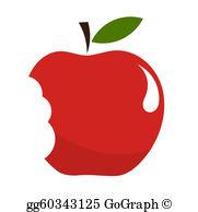 Apple Bite Clip Art.