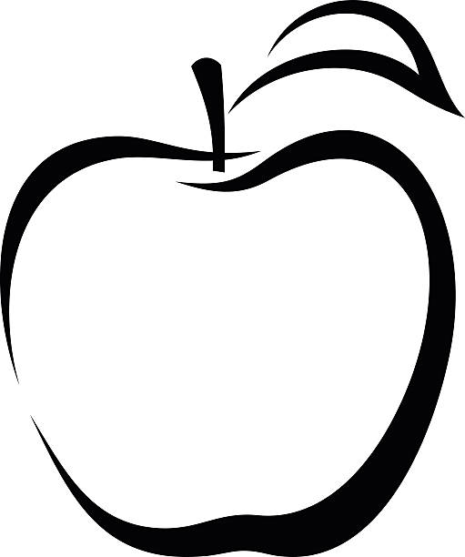 Top Black And White Apple Clip Art Vector Graphics Incredible.