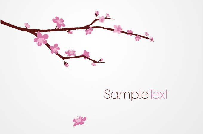 Cherry tree branch clipart.