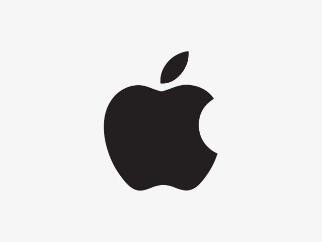Black and White Apple Logo.