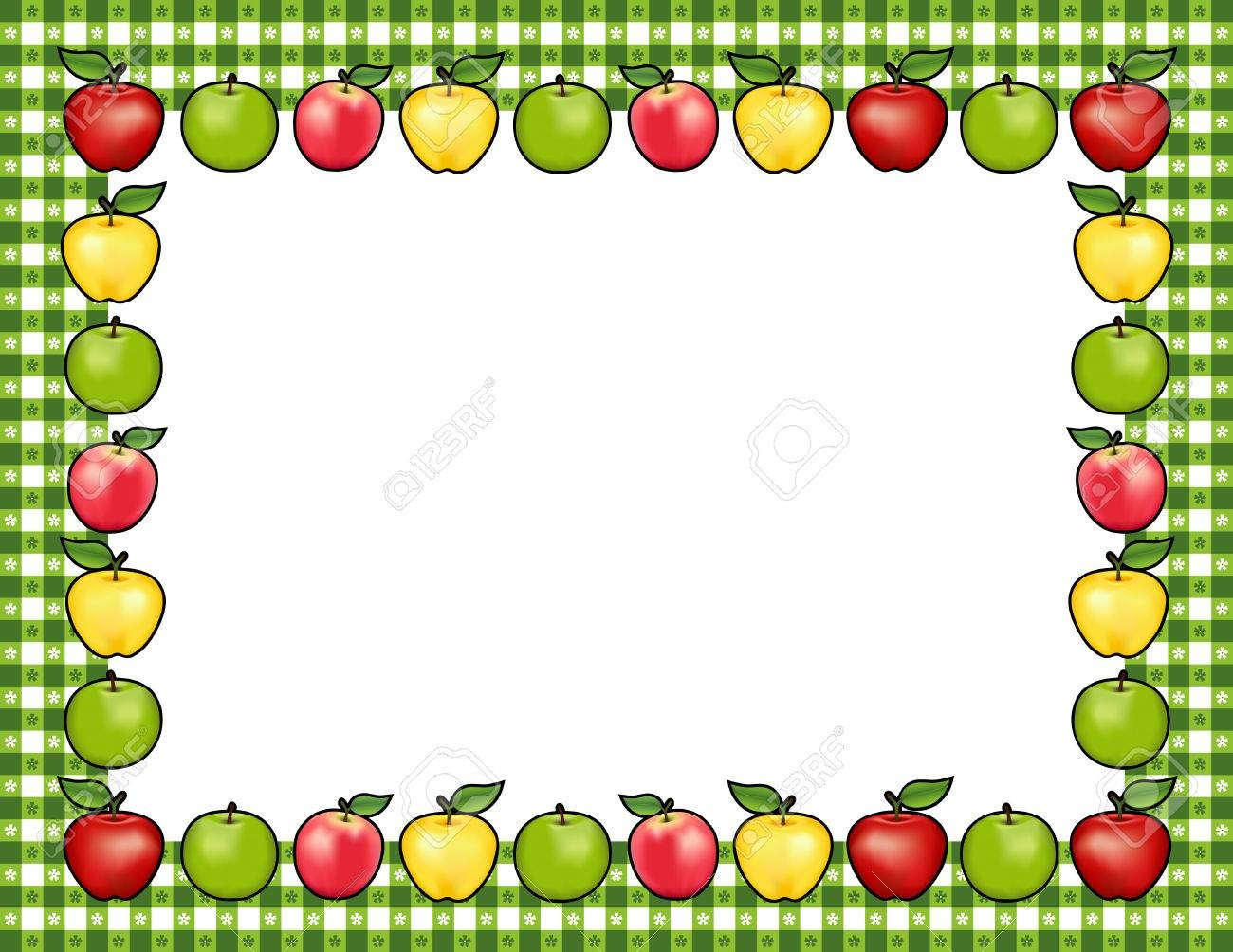 Within Apple Border Clipart 60895544 Frame Place Mat With Red And.