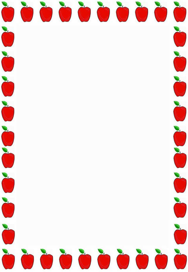 Teacher Apple Border Clipart.