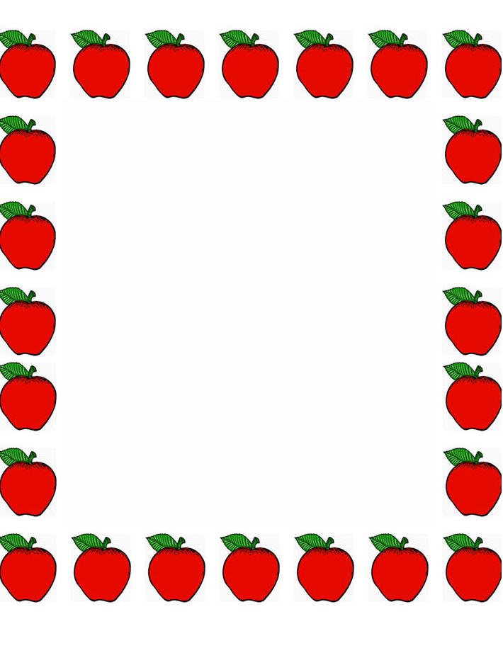 Apple Border Clip Art.