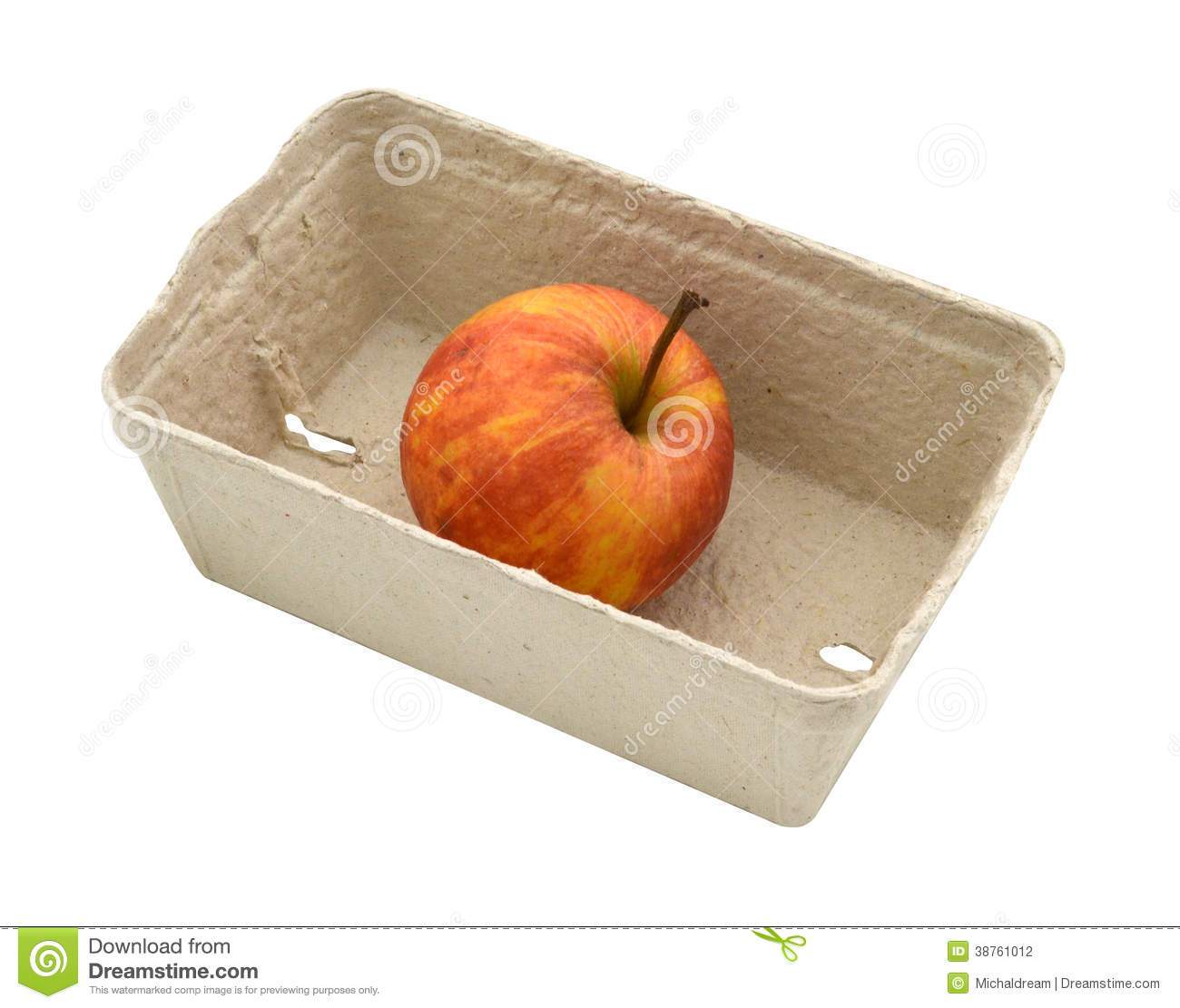 Apple In The Box Clipart.