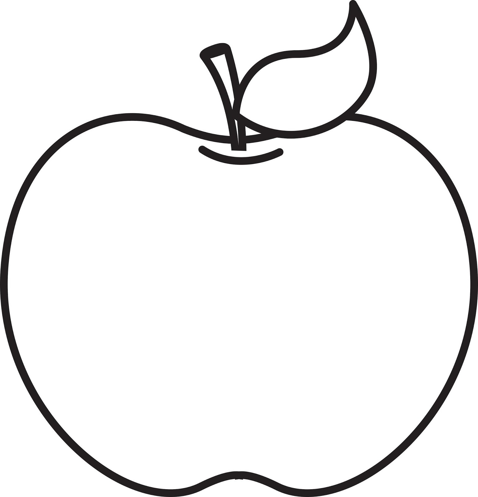 Black And White Clipart For Apple.