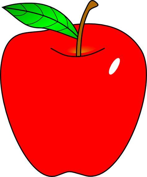 Cartoon Pictures Of Red Apples.