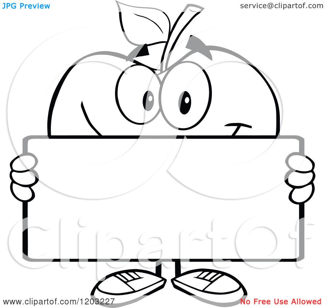 Apple Clipart Border Black And White.